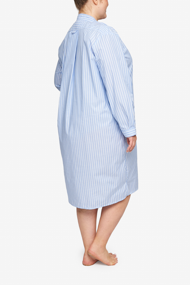 Long Sleep Shirt Tricolour Stripe PLUS