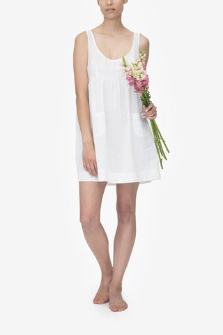 Pocket Nightie White Linen Blend