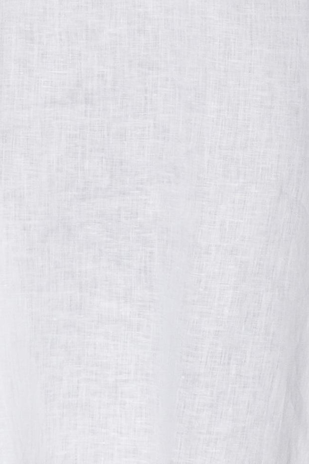 Bias Cut Top White Linen