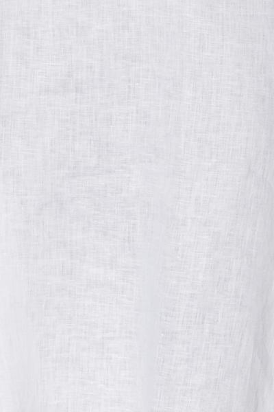 Short Sleep Shirt White Linen PLUS