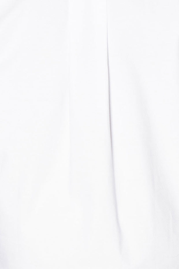 Long Sleep Shirt White Pique PLUS