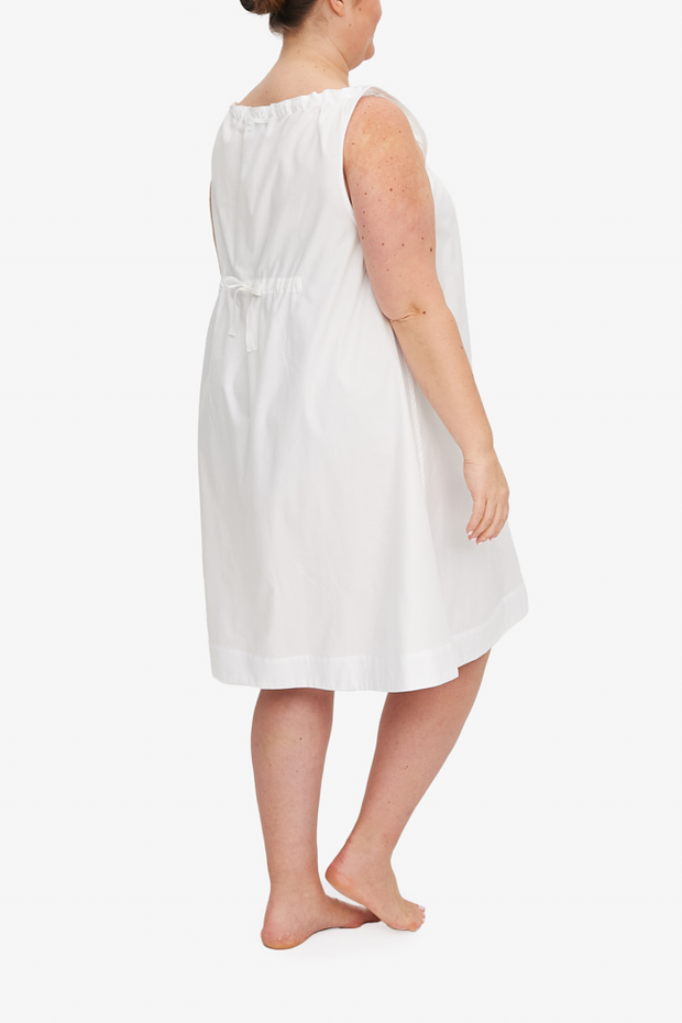 Sleeveless Nightie White Royal Oxford PLUS