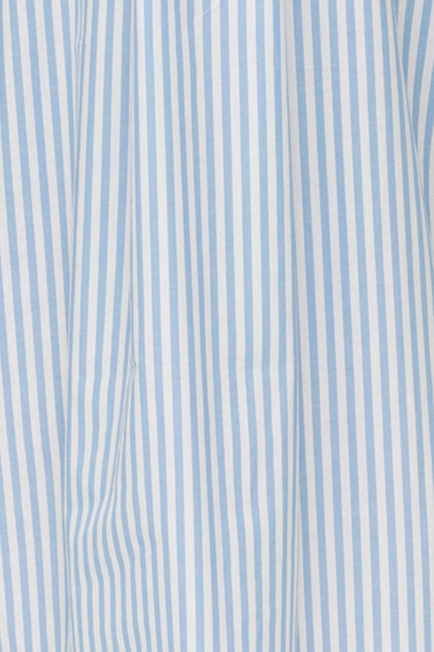 Flounce Top Wide Blue Stripe