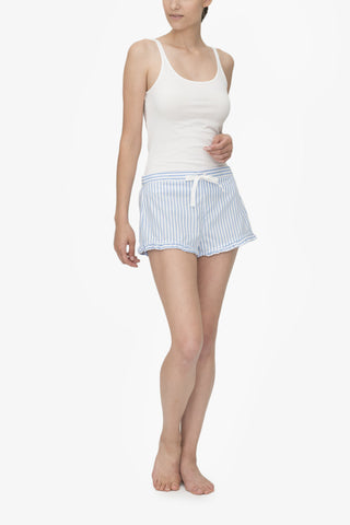 Ruffle Short Wide Blue Stripe