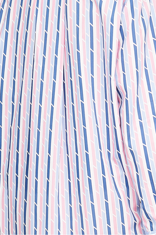 Pocket Nightie Blue & Pink Trio Stripe