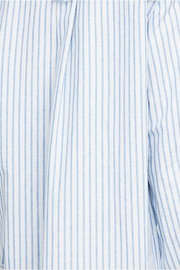 Long Sleep Shirt Sapporo Cotton Linen Stripe