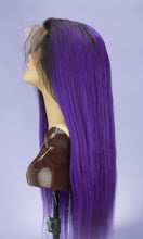 "Load image into Gallery viewer, Ombre Purple 28"" Full Lace Wig"