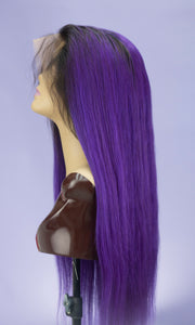 "Ombre Purple 28"" Full Lace Wig"