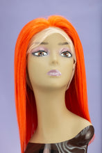 "Load image into Gallery viewer, Flaming Orange 14"" Full Lace BOB Wig"