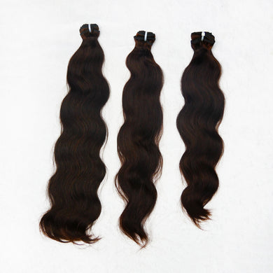 Deluxe Indian Silk Natural Brown Bundles (thick to bottom)