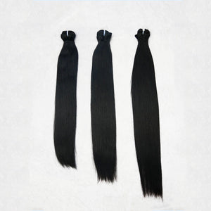 Deluxe Indian Silk Jet Black Bundles (thick to bottom)