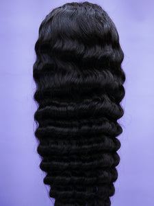 Indian Natural Deep Wave Full Lace Wig