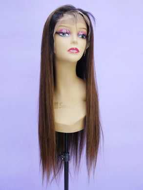Ombre Walnut Brown Full Lace Wig