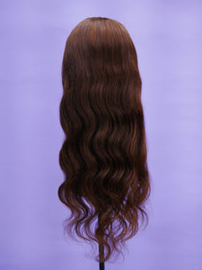 "Medium Brown 24"" Full Lace Wig"
