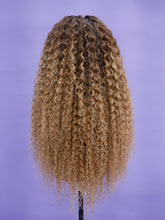 Load image into Gallery viewer, Ombre Honey Blonde Bohemian Curl Full Lace Wig