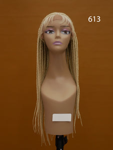 Middle Part 26 inch Box Braid Lace Front Wig