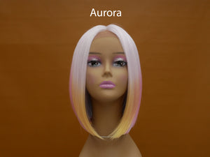 Color Splash Synthetic Lace Front Bob Wig