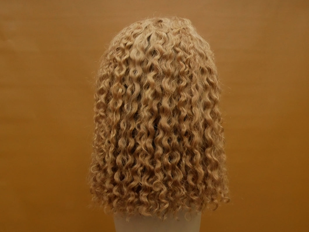 Honey Blonde Pineapple Curl Bob Lace Front Wig