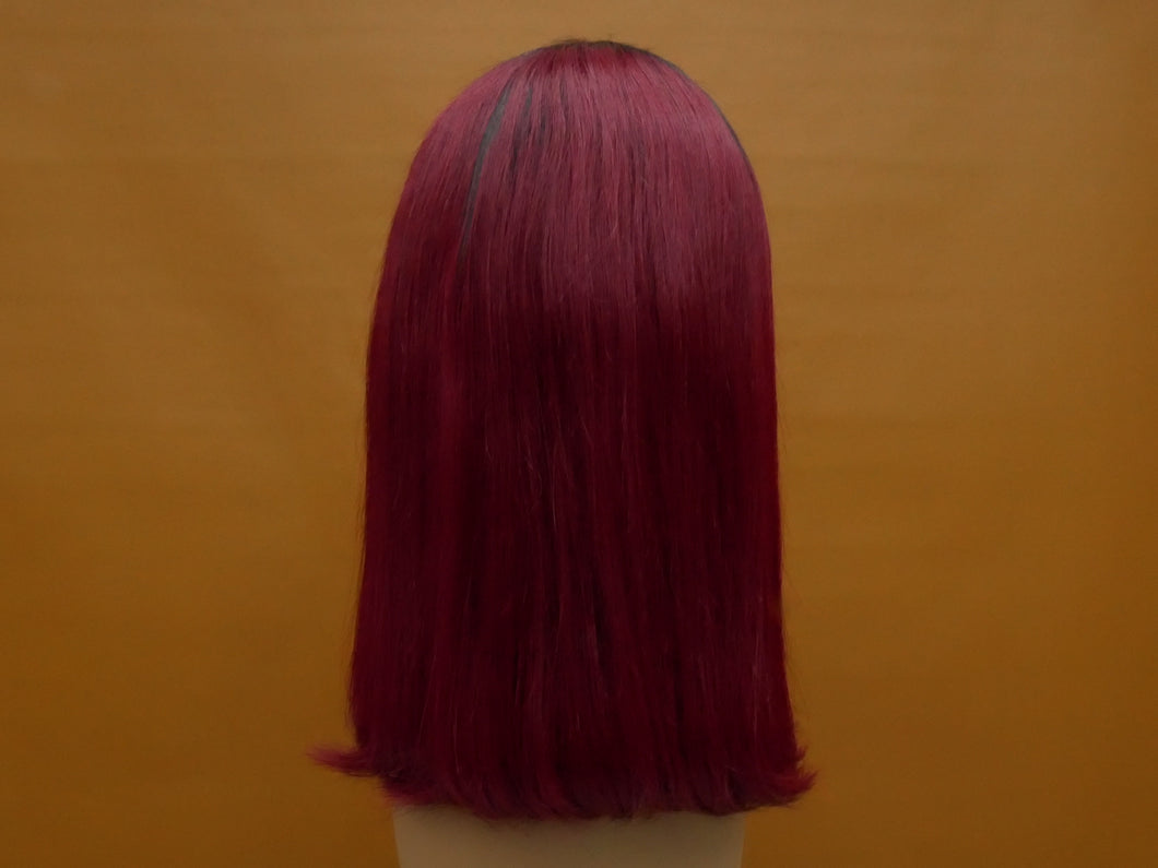 Dark Roots Dark Cherry Bob Lace Front Wig