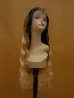 3-Tone Honey Blonde Bodywave Full Lace Wig