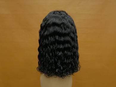Natural Deep Wave Bob Lace Front Wig