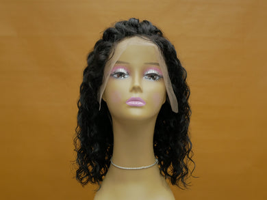 Natural Water Wave Bob Lace Front Wig