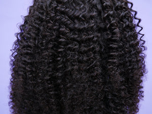 Malaysian Natural Kinky Curl Full Lace Wig