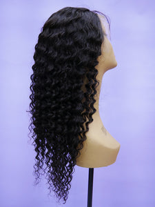 Malaysian Natural Pineapple Curl Full Lace Wig