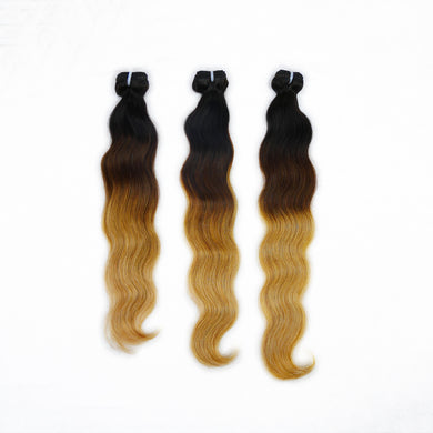 Mongolian Donor Ombre Gold Body Wave Hair Bundles (high quality)