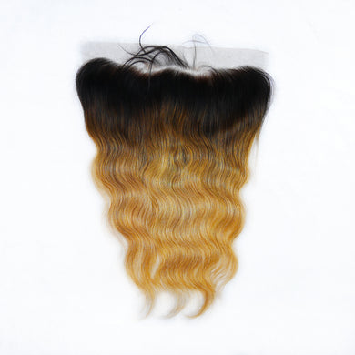 Luxury Mongolian Donor Ombre Gold Body Wave Frontal
