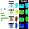 4 Colors 40g Luminous Nail Dipping Powder