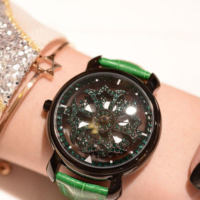 360° Rotating Dial Waterproof Quartz Watch
