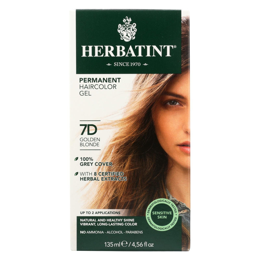 Herbatint Permanent Herbal Haircolour Gel 7d Golden Blonde - 135 Ml