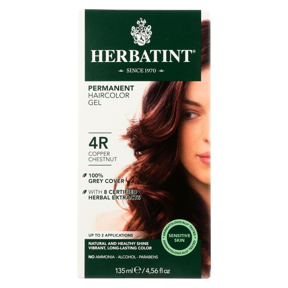 Herbatint Permanent Herbal Haircolour Gel 4r Copper Chestnut - 135 Ml