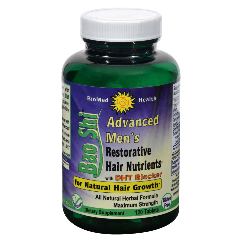 Biomed Health Advanced Bao Shi Men's Hair Supplement - 120 Tablets