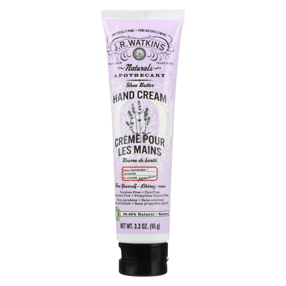 J.r. Watkins Body Cream Lavender - 3.3 Oz