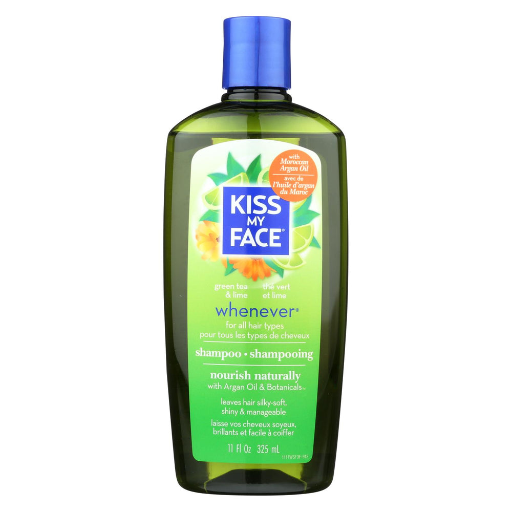 Kiss My Face Whenever Shampoo Green Tea And Lime - 11 Fl Oz