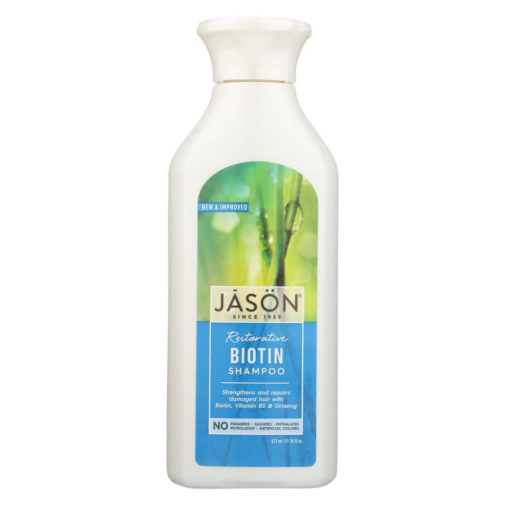Jason Pure Natural Shampoo Restorative Biotin - 16 Fl Oz