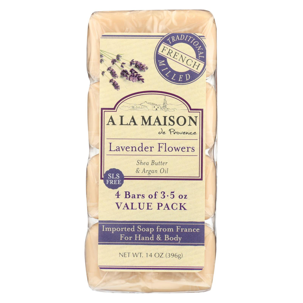 A La Maison - Bar Soap - Lavender Flowers - Value 4 Pack
