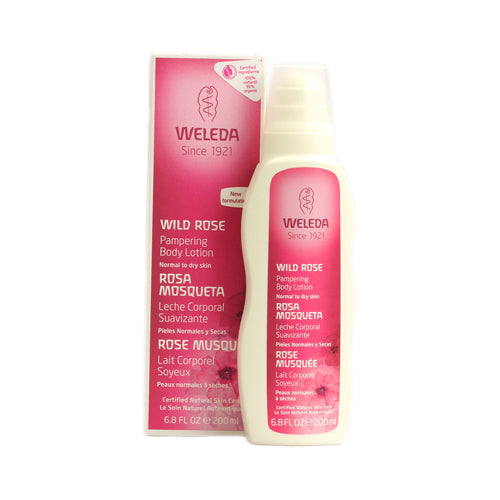 Weleda Pampering Lotion Normal To Dry Skin Wild Rose - 6.8 Fl Oz