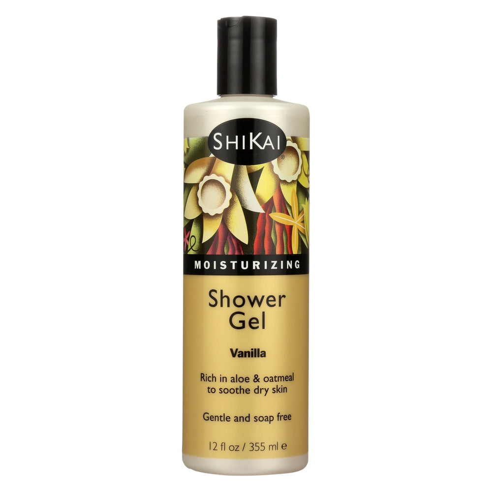 Shikai Products Shower Gel - Vanilla - 12 Oz