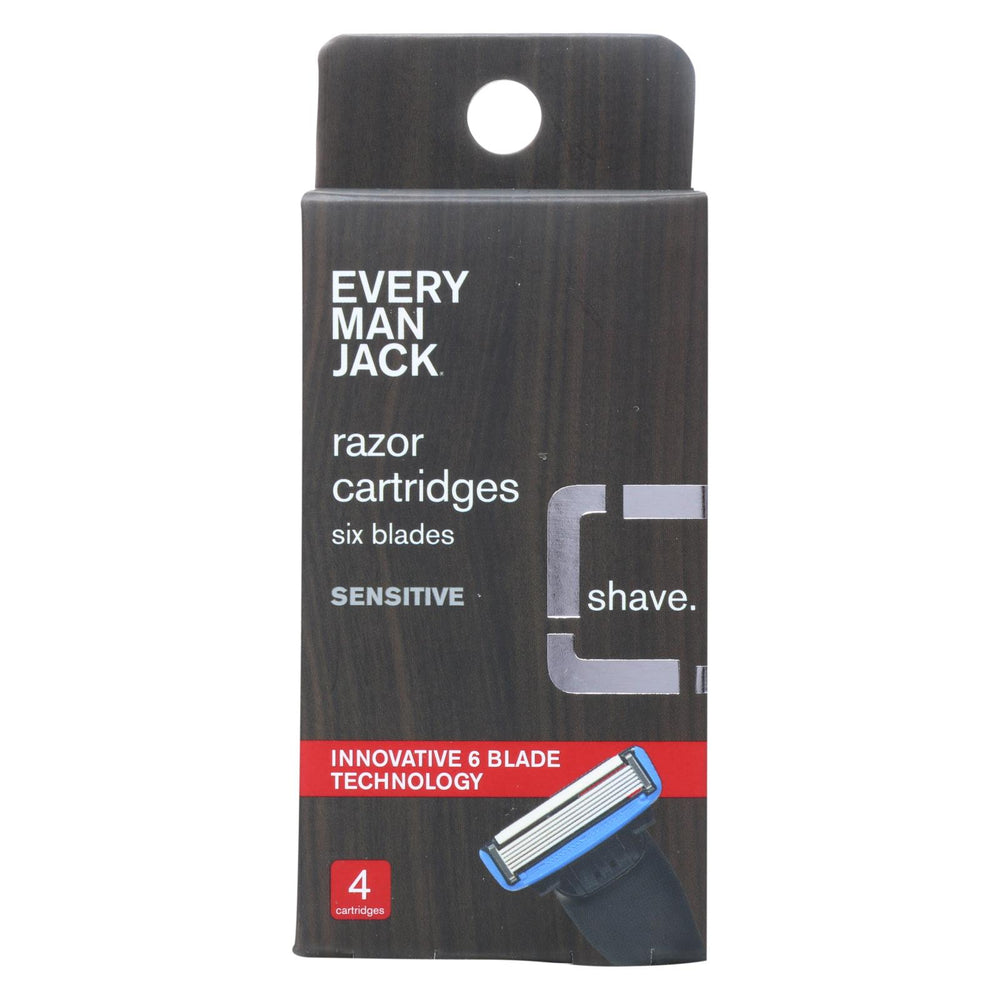 Every Man Jack Razor Cartridges - Cartridges - 4 Count