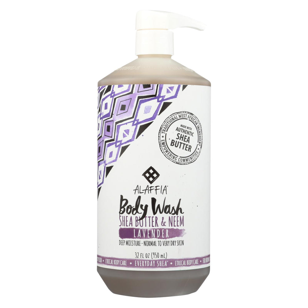 Alaffia - Everyday Body Wash - Shea Lavender - 32 Oz.