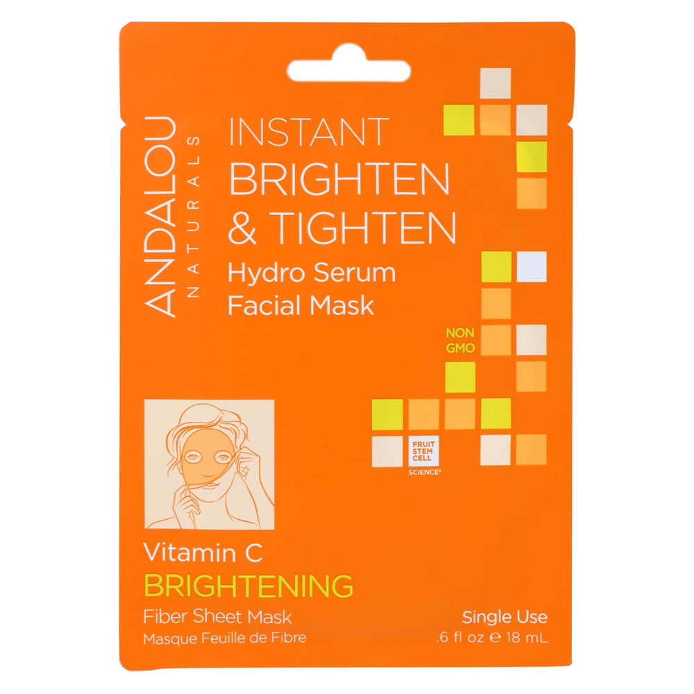 Andalou Naturals Instant Brighten & Tighten Facial Mask - Vitamin C - Case Of 6 - 0.6 Fl Oz