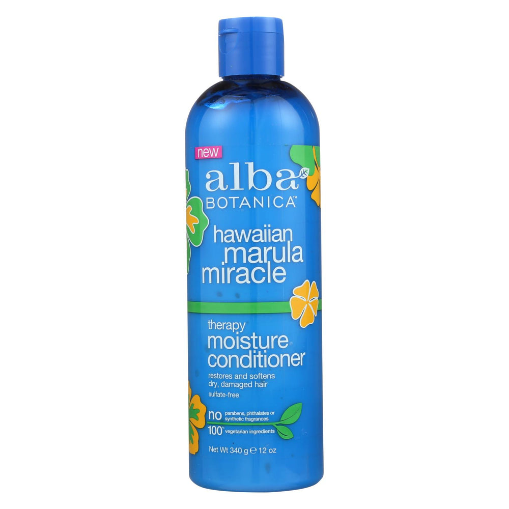 Alba Botanica - Hawaiian Hair Conditioner - Marula Miracle - 12 Fl Oz