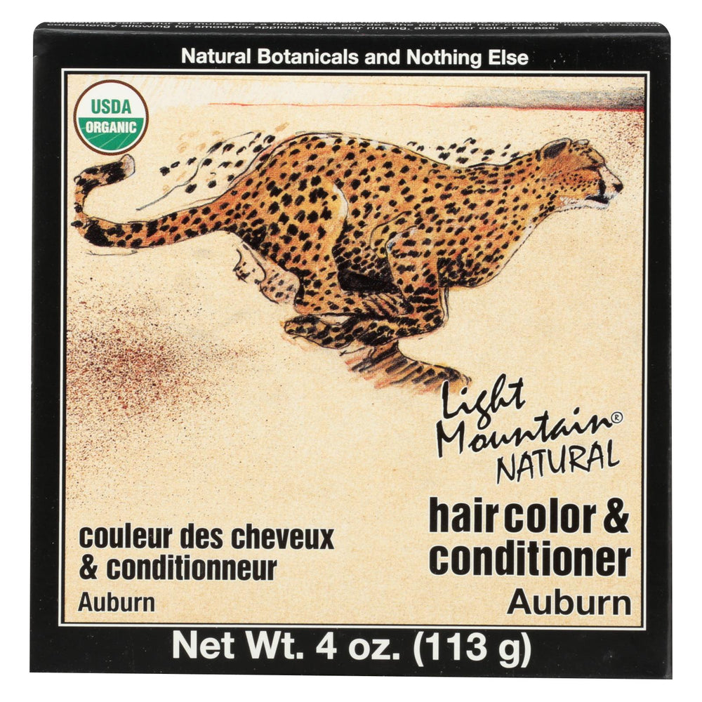 Light Mountain Hair Color-conditioner - Organic - Auburn - 4 Oz