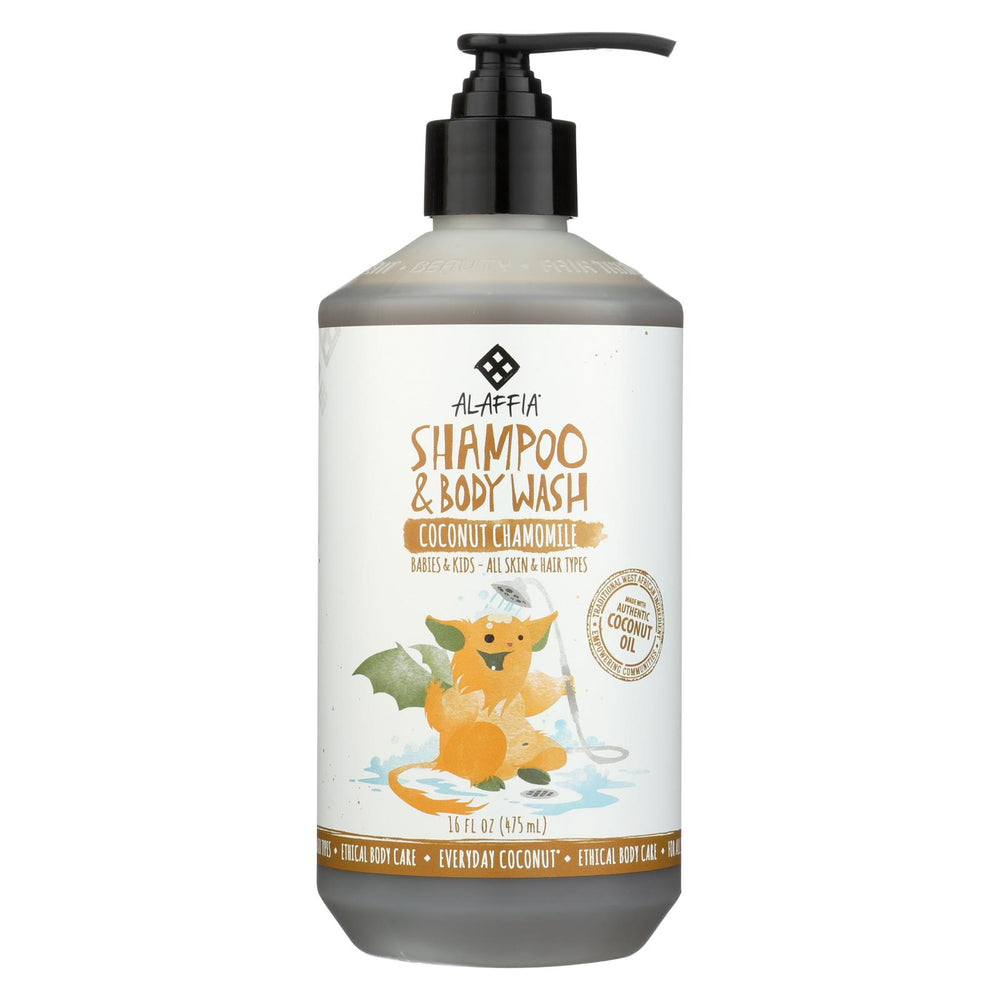 Alaffia - Everyday Shampoo And Body Wash - Coconut Chamomile - 16 Fl Oz.