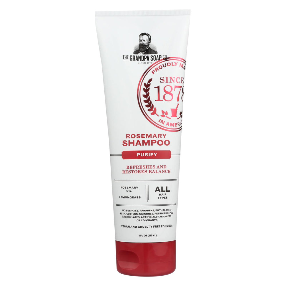 Grandpa Soap Shampoo - Rosemary - 8 Fl Oz