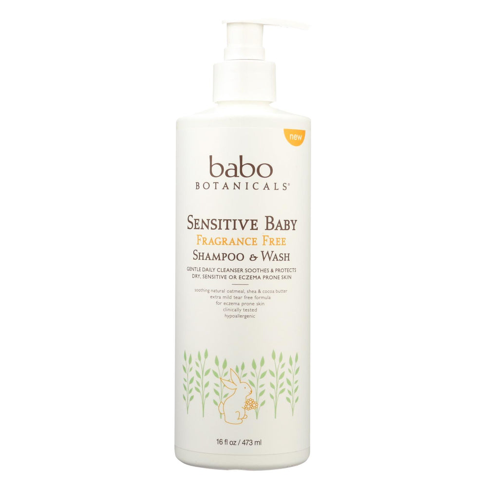 Babo Botanicals - Body Wash - Fragrance Free - Case Of 16 - 16 Fl Oz.