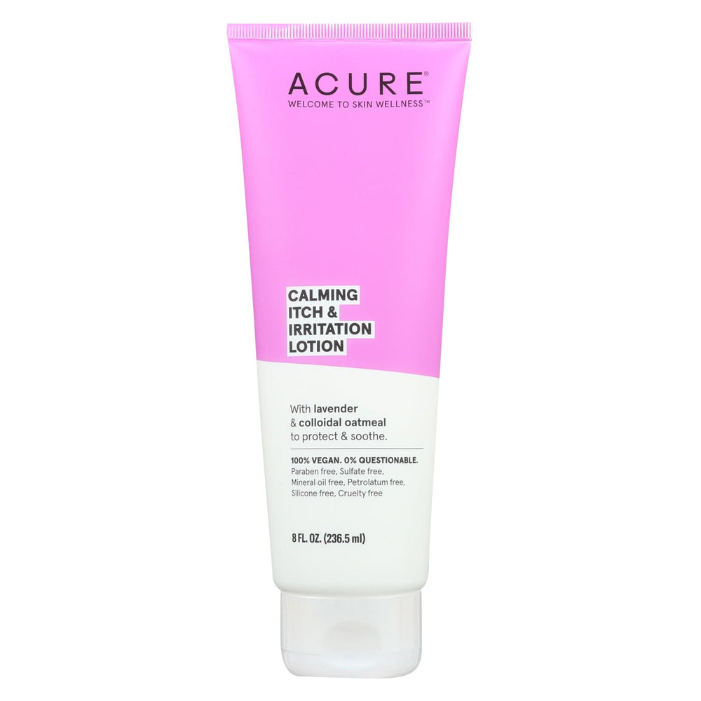 Acure - Lotion - Calming Itch And Irritation Lotion - Lavendar And Oatmeal - 8 Fl Oz.